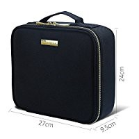Travel Makeup Case,Samtour- Professional Cosmetic Makeup Bag Organizer,Accessories Case, Tools case (Black)