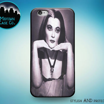 Lily Munster Black & White Photo Rubber Case for iPhone 6s Plus iPhone 6 Plus iPhone 6s iPhone 6 iPhone 5s iPhone 5 iPhone 5c iPhone SE