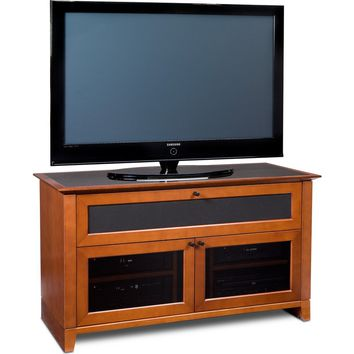 Novia 52 Inch Highboy TV Stand Home Theater Cabinet Cherry or Cocoa