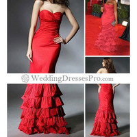 A-line Strapless Floor Length Satin with Beading Sleeveless Evening Dress [TWL120201014] - $150.99 : wedding fashion, wedding dress, bridal dresses, wedding shoes