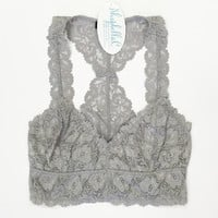 Lace Bralette- Grey