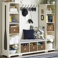 SAMANTHA ENTRYWAY SET, SET OF 1 BENCH & 2 BOOKCASES