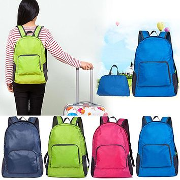 Women Men Backpack Riding Back Pack Bag Ultra Light Folding Waterproof Travel Nylon Shoulder Bags