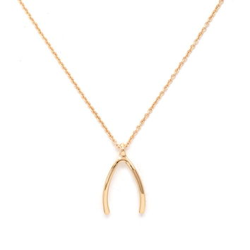 Wishbone Pendant Necklace