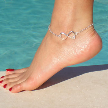 Silver Chain LOVE Anklet  Tiffany & Co inspried by DeliBejeweled