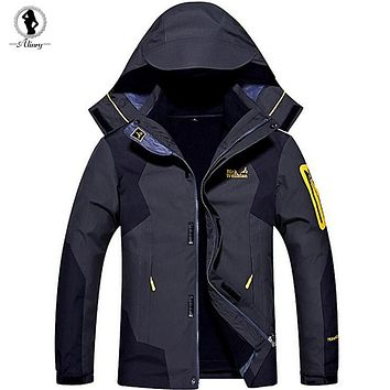 New large size 4 colors Winter jackets men windproof ourdoor down parkas warm hood Mountaineering suits 2017 winter coat