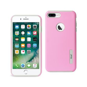 iPhone 8 Plus/ 7 Plus Solid Armor Dual Layer Protective Case In Pink
