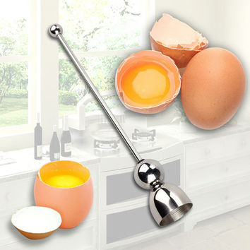 New Stainless Steel Raw Eggshell Topper Cutter Egg Opener Kitchen Tools Kitchen Gadgets