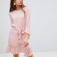 Vero Moda Tall Ruffle Dress With Wrap Hem at asos.com
