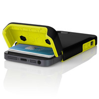 The Black / Lime Incipio STASHBACK™ Dockable Credit Card Case for iPhone 5-5s