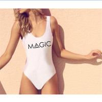 Summer Newest Fashion Women Letter Printed MAGIC Jumpsuits Harry potter Ladies Sexy Bodysuit Slim Skinny Jump suits Rompers