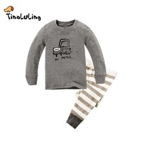 TINOLULING Children Clothes Kids Clothing Set Boys Pajamas Sets Cars Styling Nightwear Print Pajamas Girls Sleepwear Baby Pyjama
