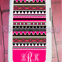 Samsung Galaxy S3 Case , Pink Aztec  pattern with porsonalize monogram Galaxy S3 Cover, Samsung Galaxy S3 Cases, Galaxy s3 case