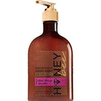 Bath & Body Works Salted Honey & Vanilla Nourishing Hand Soap 8 oz