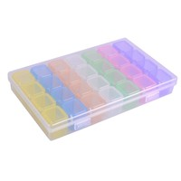 28 Compartment Empty Storage Box Nail Art Decorations Jewelry Beads Holder Accessories Mixed 7 Color Container Case CH507