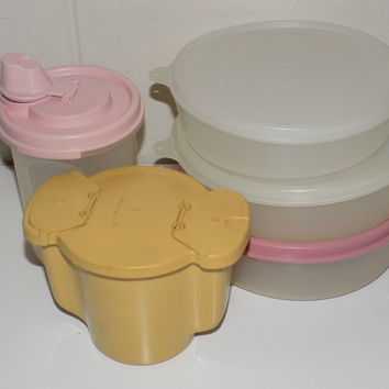 Lot of Tupperware Bowls With Lids, Sugar Bowl, Modular Mate Syrup