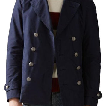 Gucci  Dark Washed Gabardine Peacoat Blue Jacket