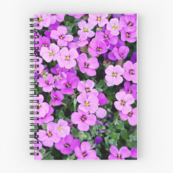 'Purple Summer Flowers' Spiral Notebook by PRODUCTPICS