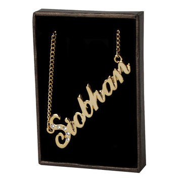 Name Necklace Siobhan - Gold Plated 18ct Personalised Necklace with Swarovski Elements