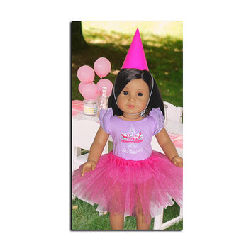 Doll Tutu / Doll & Girl Party Hats / For Bears + Beanie Boos too! / Birthday Party Favors / Gift / Stocking Stuffer / You Pick the Color