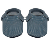 Blue Jean- Baby Moccasins
