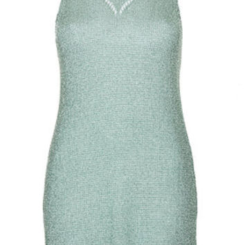 Metal Yarn Dress - Mint
