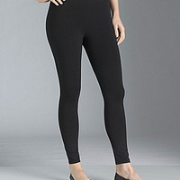 Eileen Fisher Petite Essentials Jersey Ankle Leggings - Black