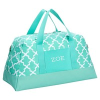 Sleepover Pool/White Diamond Lattice Duffle