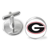 University of Georgia inspired cuff links, Dawgs, Georgia Bulldogs college cuff links, GA bulldogs accessories,Back to school,gifts for guys