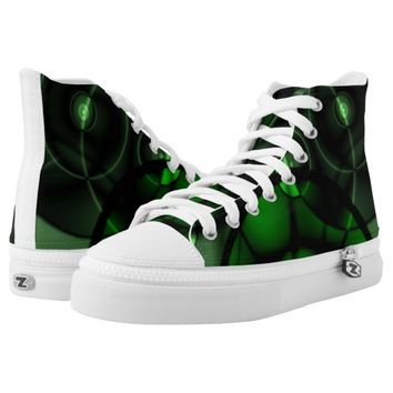 Forest Green Printed Shoes