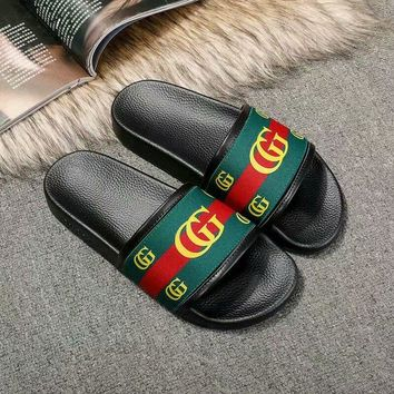 GUCCI Women Fashion Casual green Slides Sandals Shoes Best Quality