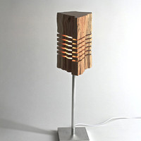 Reclaimed Wood Sculpture Illuminated Art