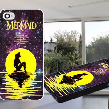 Little Mermaid Nebula Case for iPhone 4,iPhone 4S,iPhone 5,iPhone 5S,iPhone 5C,Samsung Galaxy S2 / S3 / S4
