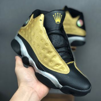Rolex x Air Jordan 13 Retro Black Gold Silver Sneaker - Best Deal Online