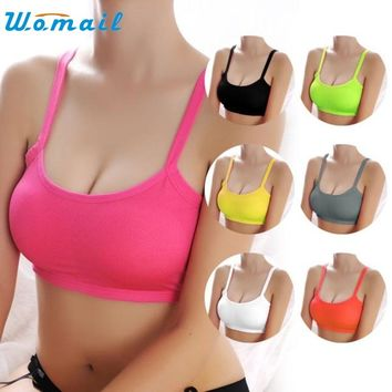 Hotsale Girl Sports Bra Women Padded Fitness Underwear Push Up Athletic Yoga Running Tops Gym Wrap Strap Vest Wirefree DEC29ZYP