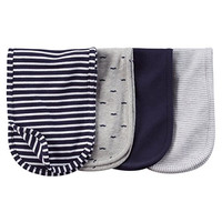 Carter's Burp Cloth - Navy Grey - 4 ct