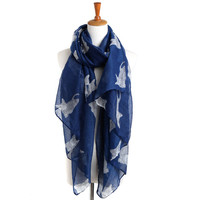 Winter Print King Size Scarf [9572845839]