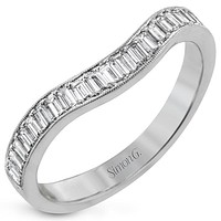 Simon G. Baguette Diamond Curved Wedding Ring