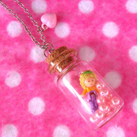 Polly Pocket Miniature Glass Bottle Necklace