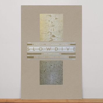 Slowdive Poster (Gold and Silver on Kraft)