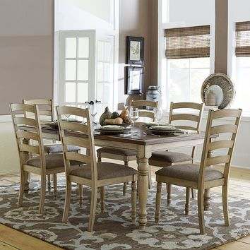HomeVance Sarasaota 7-pc. Extendable Dining Table & Chair Set