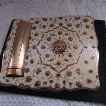 Stratton powder compact & lipstick holder Unused Empress combined compact. Ideal Gift