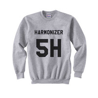 5H Harmonizer Black print on Crew neck Sweatshirt