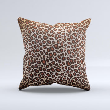 Vibrant Cheetah Animal Print V3 Ink-Fuzed Decorative Throw Pillow