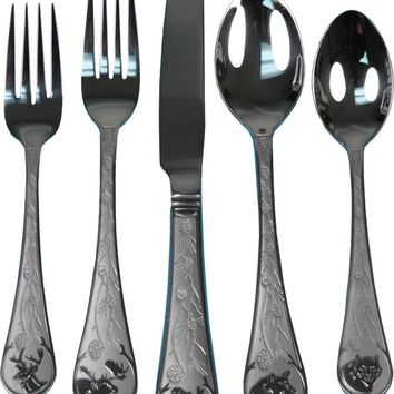 20 Piece Stainless Steel Outdoor Flatware Set