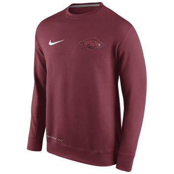 Arkansas Razorbacks Nike KO Chain Fleece Crew Pullover Sweatshirt – Cardinal