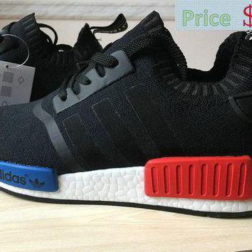 Spring Summer 2018 Real Adidas NMD Runner PK S79168 Black Blue Red sneaker
