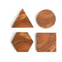 Geometric Wood Coaster Set