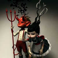 """Twisted Kids: Children Of The Pumpkin"" - Art Print by Rebeca Puebla"
