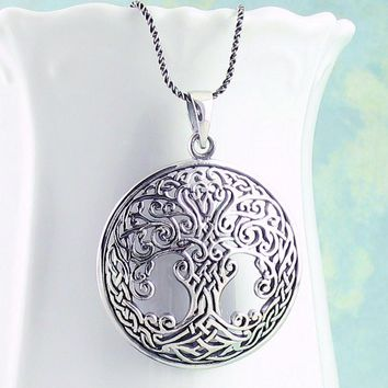 Ornate Celtic Tree of Life Necklace